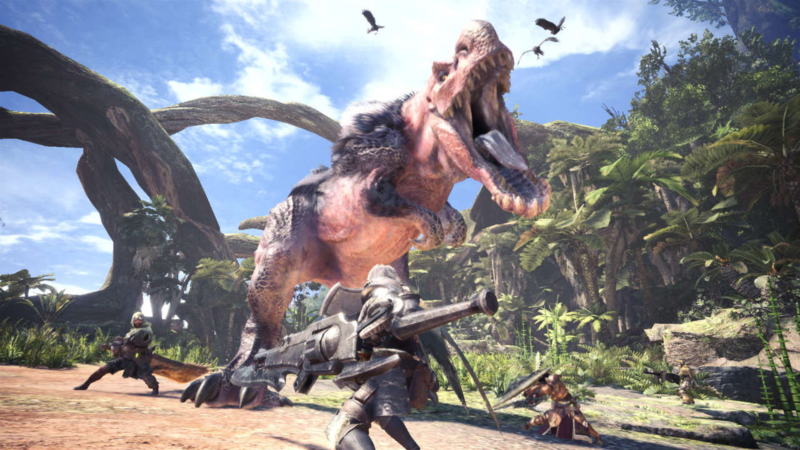 Monster Hunter: World - dinosaurus